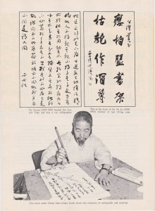 Chinese Calligraphy - Brochure -back
